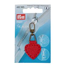 Prym Cremallera de Moda Imitación Piel, Corazón 482365