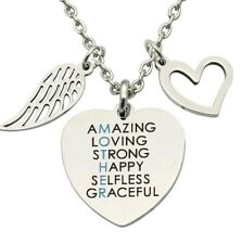 MOTHER mum NECKLACE HEART LOVE stainless steel BIRTHDAY Christmas mothersday 934