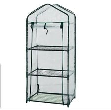 3 Tier Mini Greenhouse - 59 x 39 x 126cm, tomato , sprout growbag planter shed