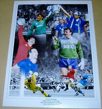 NEVILLE SOUTHALL EVERTON MONTAGE PERSONALLY HAND SIGNED 16X12 PHOTO