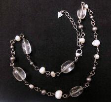 Silpada  N1602 Freshwater Pearl, Crystal Quartz & Sterling Silver Bead Necklace