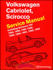 Volkswagen Cabriolet Scirocco Shop Manual Service Repair Bentley Vw Book