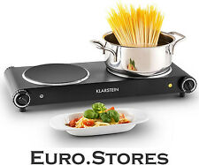 Klarstein Captain Cook Square Infrared Double Hot Plate 2400W Black Genuine New