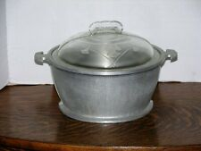Guardian Service Cookware 1940s Aluminum Round Pan Casserole with Glass Lid