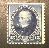 US Stamp # 227 Mint OG H $225 Low Price