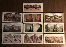 Vintage Stereoview Card Lot of 10 - Cologne Germany Switzerland France Greece