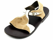 GIANNI BARBATO Cowhide Roman Flats Sandals Shoes 8 - 8.5 B ITALY Worn 2x Womens