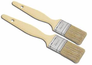 Pastry Brush Composite Handles 2 pc Set Natural Hair Bristles Metal Ferrule