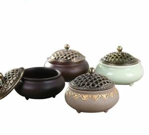 Ceramic Meditation Incense Burner Porcelain Coil Holder Relaxing Home Accessory