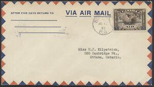 1933 AAMC #3333 Sept Iles PQ to Wabush-Katsao Labrador, Round Trip Flight Cover