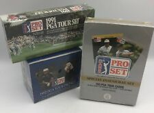 (3) Pro Set PGA Golf Trading Cards Boxes and Sets 1990 1991 & 1992