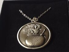 """Baba Yaga dr108 the wise o  Made From Pewter On 16"""" Silver Plated Curb Necklace"""