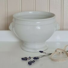 More details for vintage brocante french lions head soup bowl - free p&p included