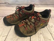 KEEN Targhee II Men's Size 8 Brown Waterproof Dry Leather Hiking Trail Shoes h5b
