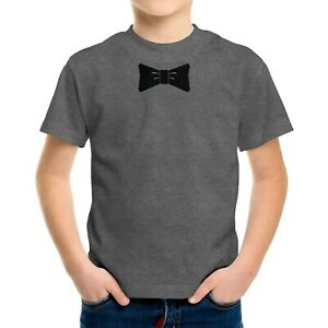 Bow Tie Cool Funny Party Toddler Kids Tee T-Shirt Bowtie Gift Graphic Printed