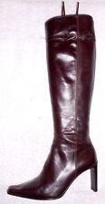MICHEL PERRY bottes zippées cuir ébène P 36 ½ TBE