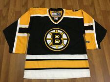 MENS MEDIUM - Vtg NHL Boston Bruins CCM Glued On Hockey Jersey Black