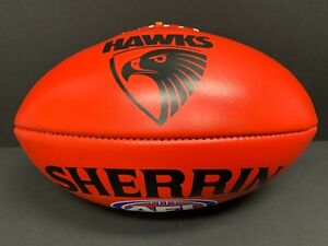 AFL HAWTHORN HAWKS SHERRIN AUSTRALIAN LEATHER FOOTBALL Premiers Hodge Mitchell