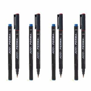 FINE TIP Permanent Marker Pen  CD/ DVD Pens medium fine Black, Blue, Green, Red