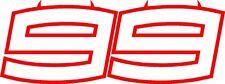 Jorge Lorenzo 99 NUOVO DEVIL & DEVIL Outline 2018/19 test HONDA-Adesivo Medio