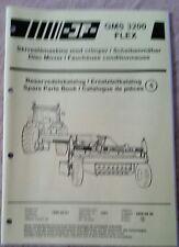 Jf GMS3200 Flex Catálogo de Piezas Cortadora De Disco