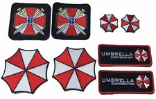 """Resident Evil Umbrella Corporation Costume [Set of 8] Patches sizes 3""""-6"""" GREAT!"""