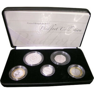 2007 United Kingdom Piedfort Collection Silver Proof Five Coins Set