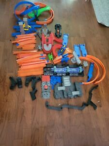 Hot Wheels Track Parts And Working Launchers read description