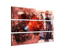 140x90 Abstraktes Malerei Kunst zeitlos rot braun Leinwand Keilrahmen Sinus Art