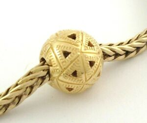Authentic Trollbeads 18k Gold Triangles Charm 21812, New