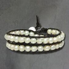 Perlen-Beauty Modeschmuck-Armbänder aus Leder