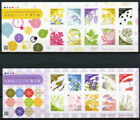 Japan 2019 MNH Traditional Colour II 2x 10v S/A M/S Birds Flowers Plants Stamps