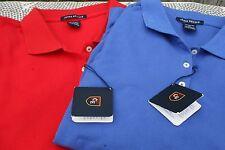 Pair Chase Edward Golf Polo Short Sleeve Shirts Red Blue Nwt L Xl