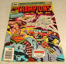 MARVEL COMICS THE CHAMPIONS # 6 VF- 1975 UK PRICE VARIANT
