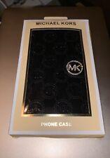 BLING Michael Kors Black Patent Leather Wristlet Wallet Case iPhone 7 Plus Cover