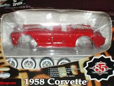 """SNAP ON"" 1958 CHEVY CORVETTE  ASSEMBLY MODEL KIT 1/18 RED"