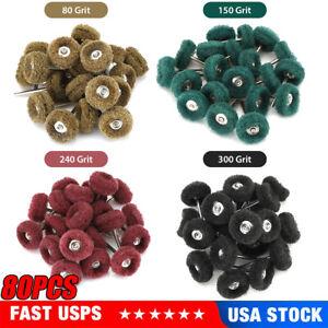 80 Abrasive Wheel 25mm Buffing Polishing Pad Kit Grinding For Dremel Rotary Tool