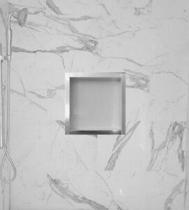 12 X 12 Porcelain Shower Niche (Glossy White) Visit Us At    nichetrendz.com