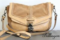 MIMCO Camel TAN Suede LEATHER Shoulder Hand Bag