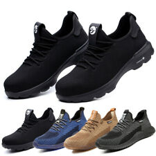 Mens Womens Safety Shoes Trainers Steel Toe Cap Work Boots Sports Hiking Shoes