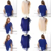 V Neck Jumper Elegant Tops Loose O Neck Casual Pullover T-Shirt Fashion