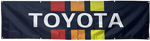Toyota Flag 4WD Automotive Man Cave Racing 2x8ft banner US Seller