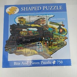 Bits and Pieces 750 Piece Puzzle On the Railway by Ruane Manning #18-4644 20×27