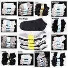 Kids Ankle Socks Lot Toddler Boy Girl School Black White Gray 0-12  2-3  4-6 6-8