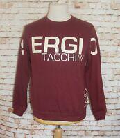 size XLB boys Sergio Tacchini sweatshirt graphic long sleeve crew neck burgundy