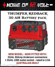 Thumper Redback 30 AH AGM Pack Portable dual battery system USB ENGEL CIGARETTE