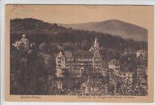 AK Baden-Baden, Sanatorium Dr. Dengler, Kapelle Stourdza um 1920