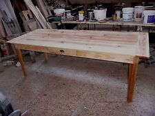 grande table en bois massif over blog de ferme de repas