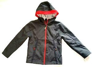 Champion Boys Lightweight Gray and Orange Trim Jacket Size S 6/7