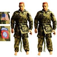 "Lot 2 Airborne 21ST CENTURY uniform For 12"" DRAGON GI JOE 1/6 Action figure Toy"